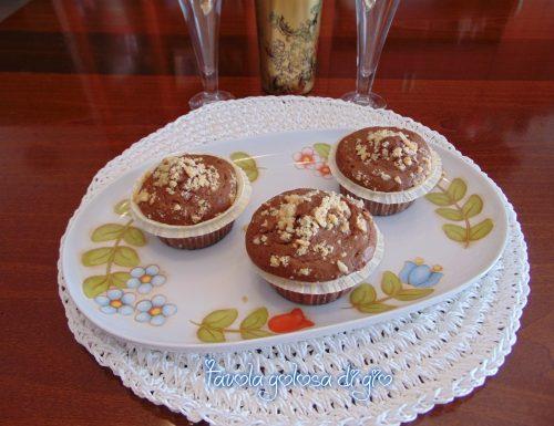 Tortine al cioccolato fondente e nocciole
