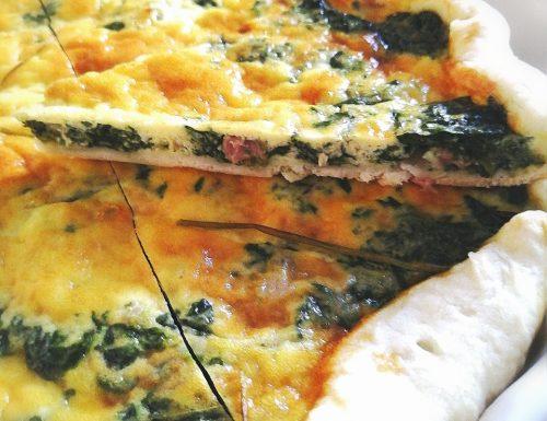 Quiche con spinaci e pancetta affumicata