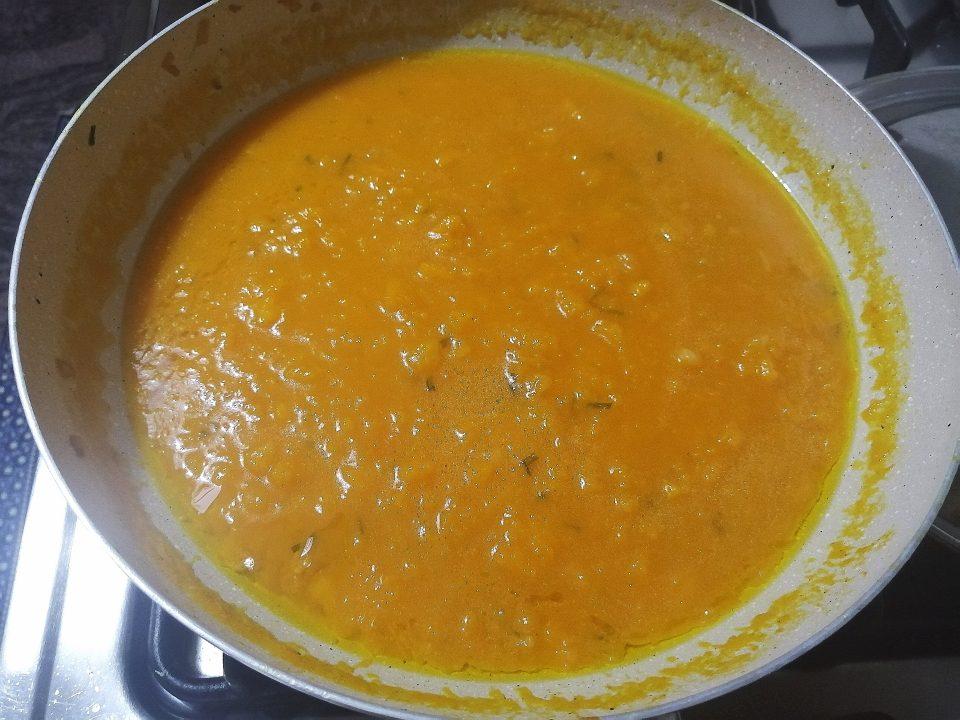 Lasagne con zucca e gamberetti
