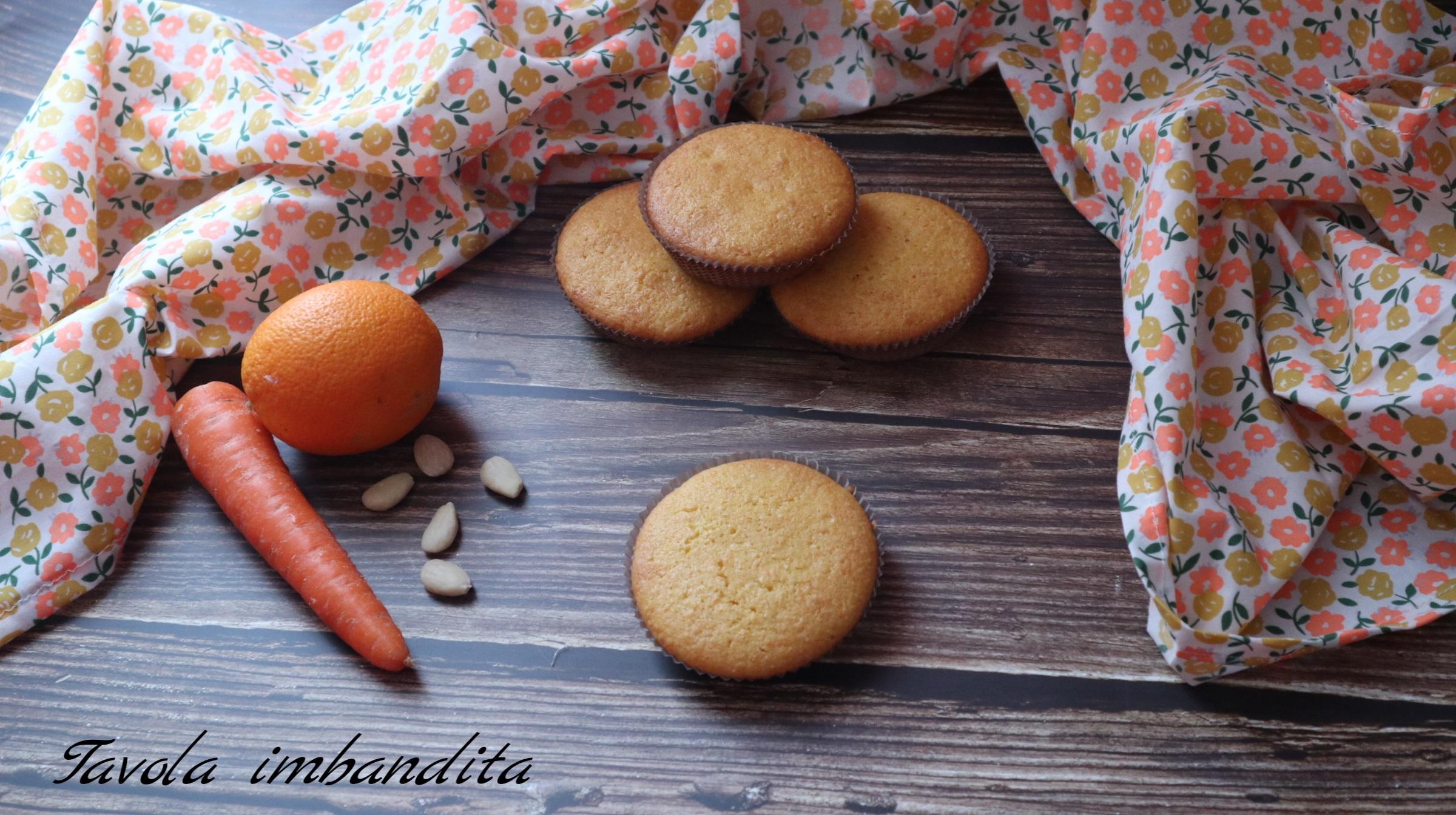 tortine con carote e mandorle