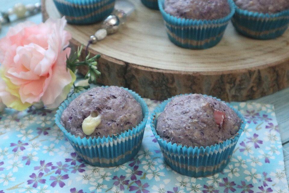 Muffin salati al cavolo cappuccio viola