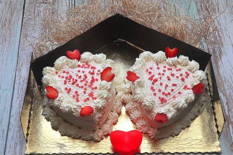 Torta red velvet  cuori