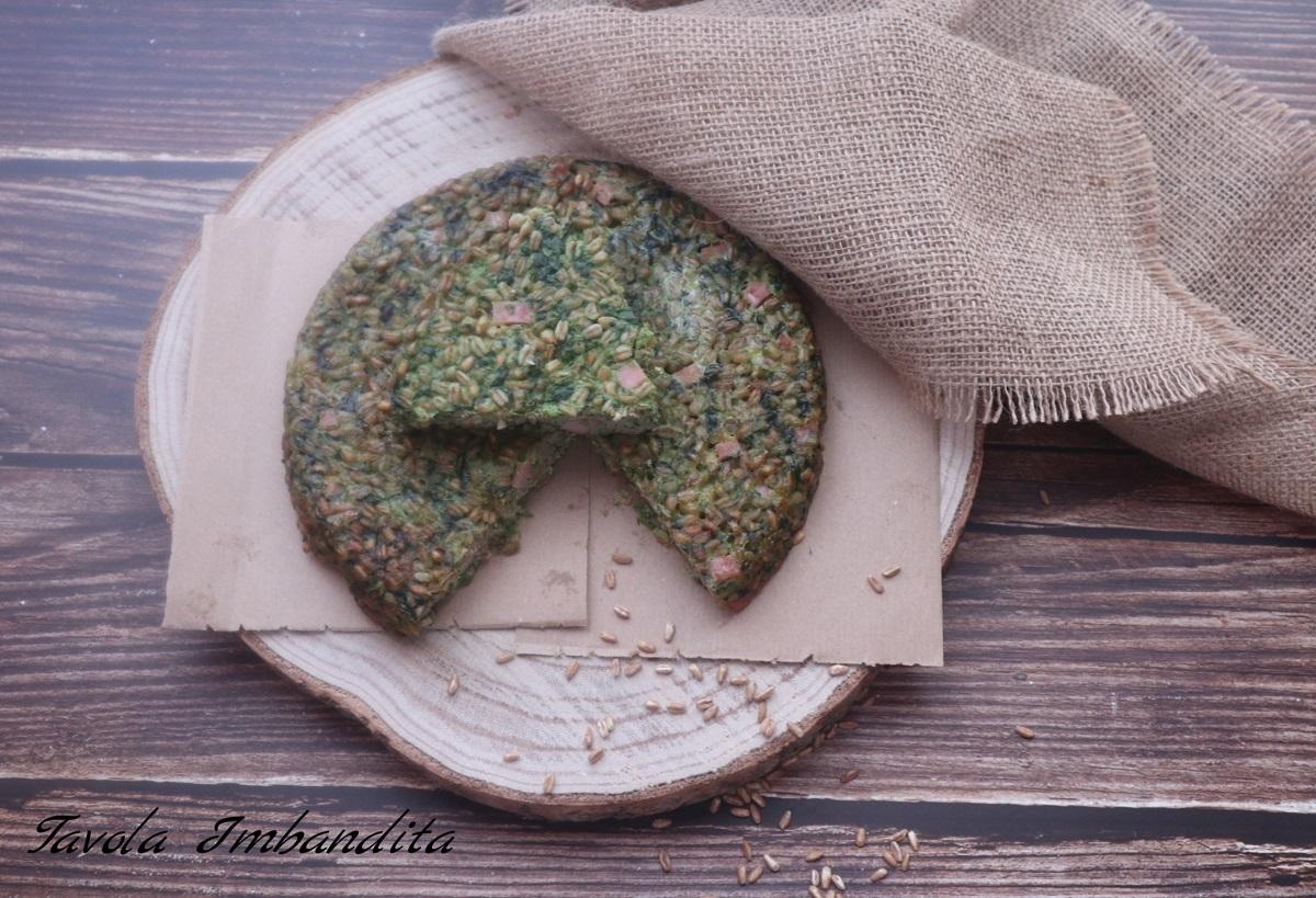 torta di farro con ricotta spinaci e prosciutto