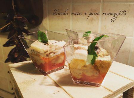 Pesce spada spuma di melanzane e pomodoro (Finger food)