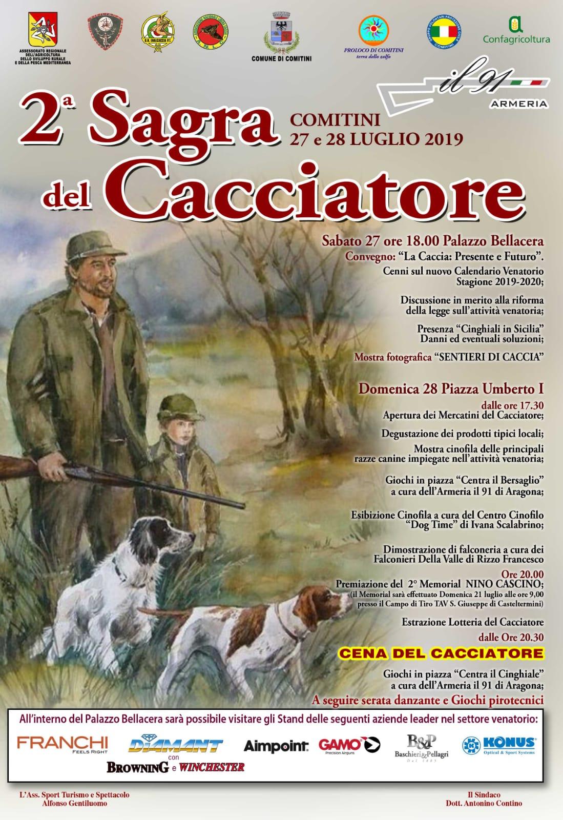 Federazione Siciliana Della Caccia Calendario Venatorio.Comitini 2 Sagra Del Cacciatore Tavula Misa E Pani
