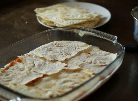 Lasagna vegana con pane Carasau