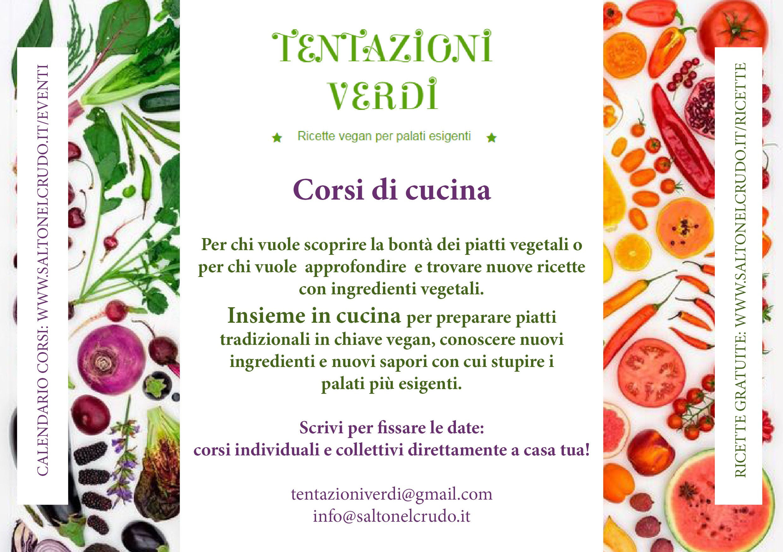 Corsi di cucina verde | Tentazioni Verdi
