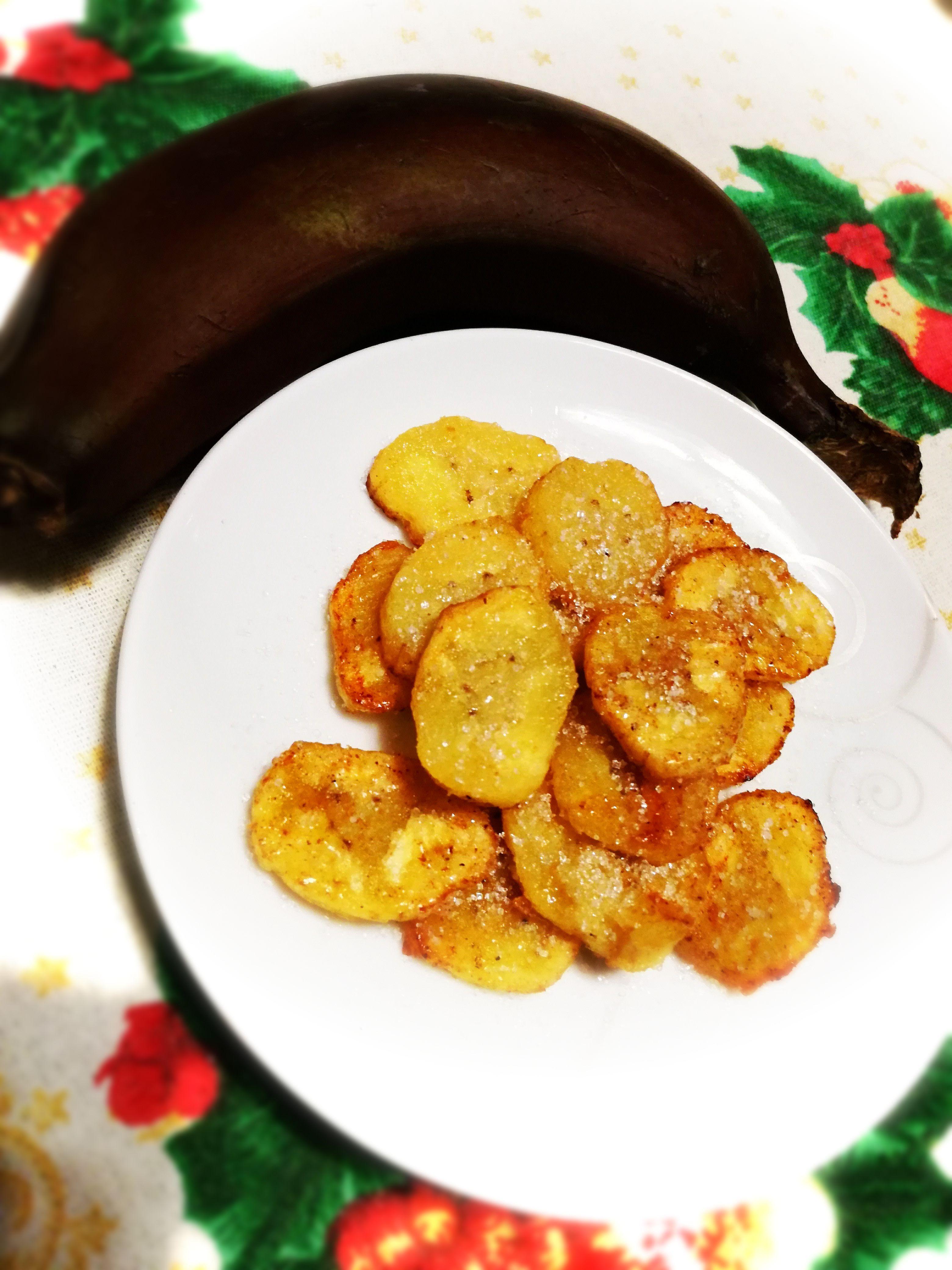 Banana rossa fritta
