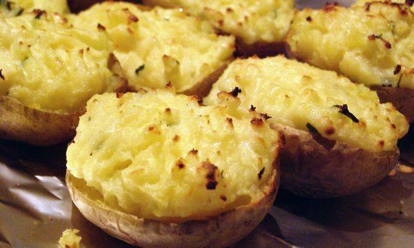 Patate al forno con formaggio Philadelphia