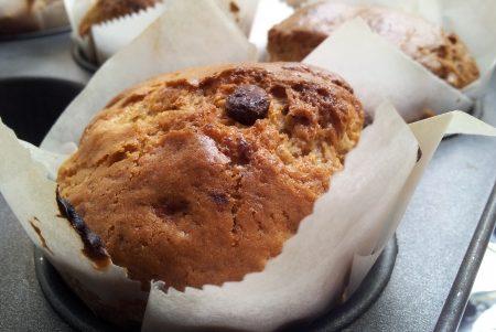 Banane, noci pecan e cioccolato muffin senza glutine