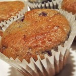 Muffin americano senza glutine di mirtillo e Philadelphia formaggio.