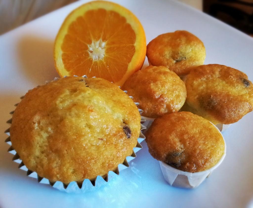 Muffin Americano senza glutine con arancia e cioccolato