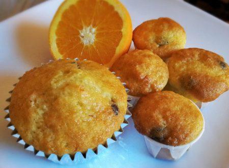 Muffin Americani senza glutine con arancia e cioccolato