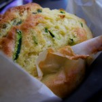 Zucchine e parmigiano muffins americano