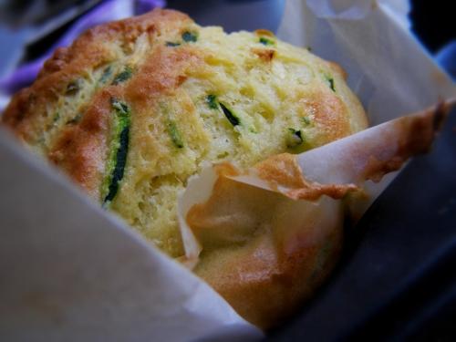 Zucchine e parmigiano muffin americano