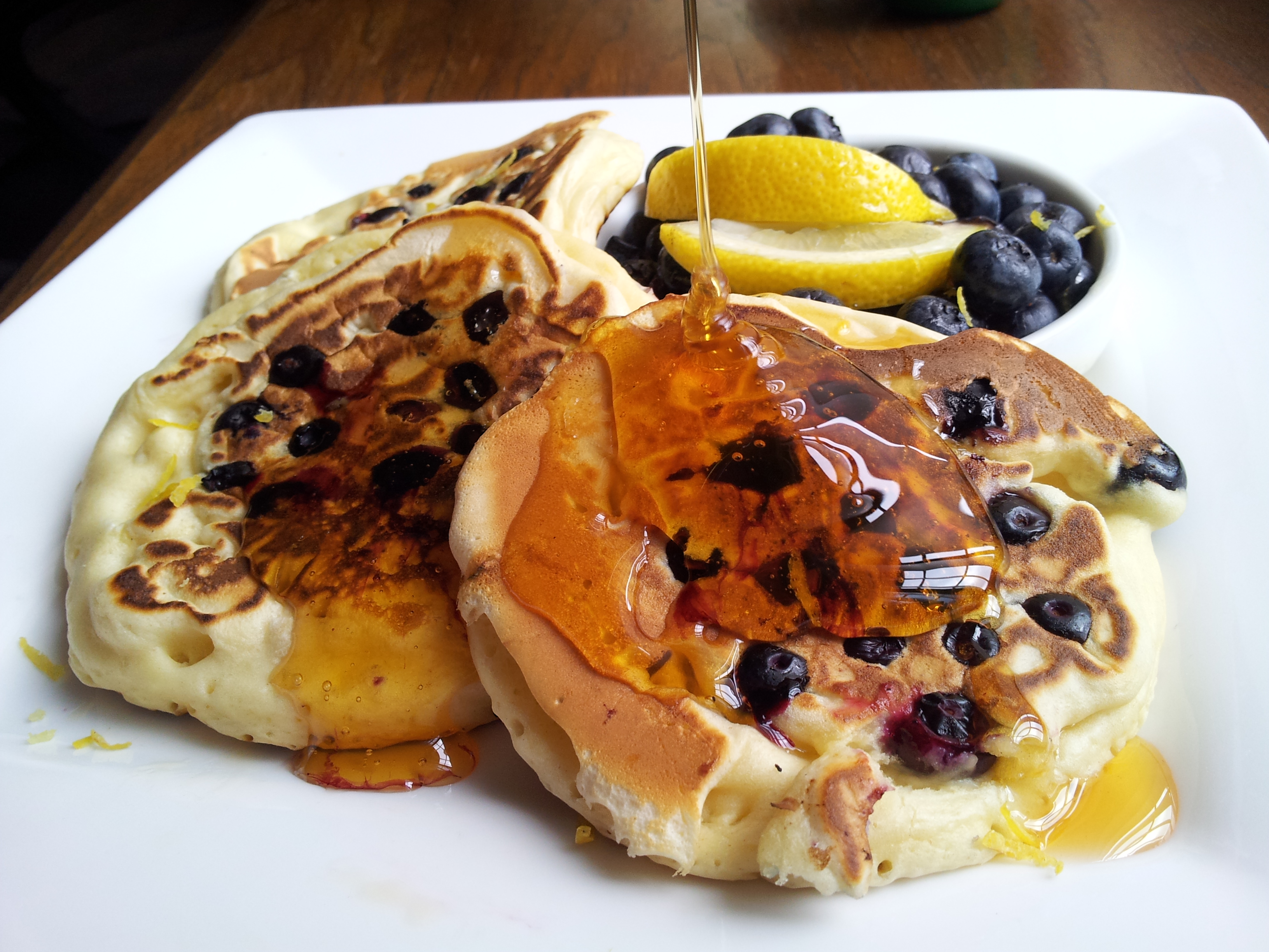blueberry pancake lemon honey