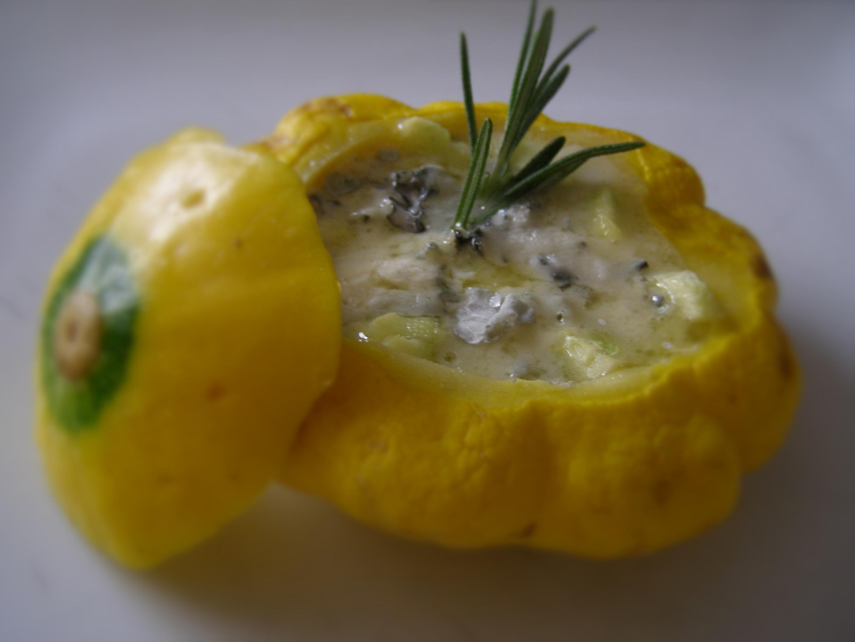 Zucchine tonde ripiene di Gorgonzola