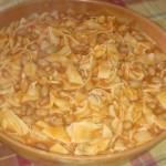 pasta fagioli served
