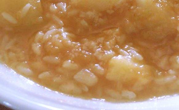 Zuppa di zucca con riso