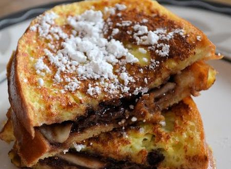 Toast alla Francese con banana e nutella