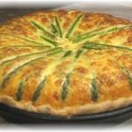 Asparagus and bleu cheese