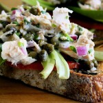 tuna caper open face