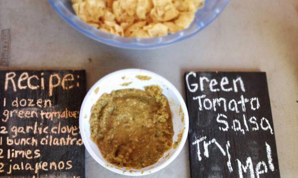 Sapori da The Farm: pomodoro verde salsa