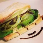 mozzarella green tomato panini