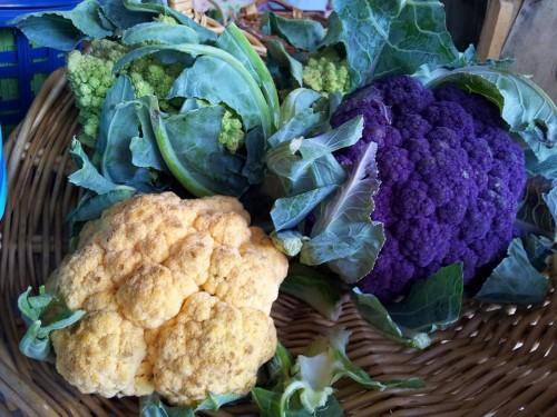 cesto con broccoli
