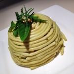 cupola di bucatini spinach