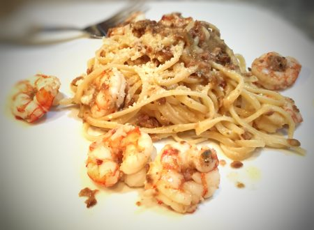 Royal red shrimp with lemon linguine