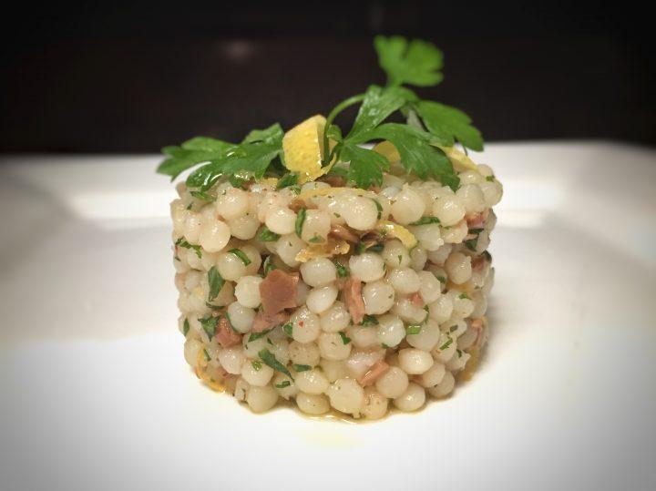 insalata di couscous di olive e limone