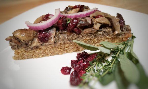 Crostata di funghi e quinoa