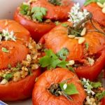 Rice stuffed tomatoes with capers