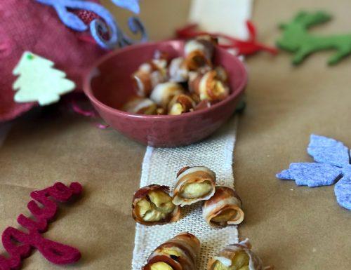 Bottoni di castagne e pancetta