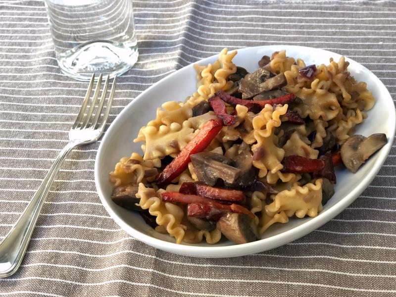 The Bretell Kitchen - Mafalde grappa e speck