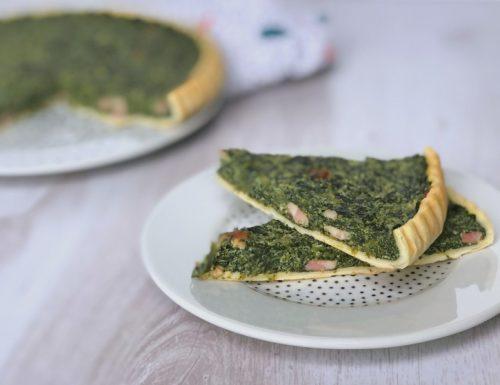 Torta spinaci e pancetta cotta