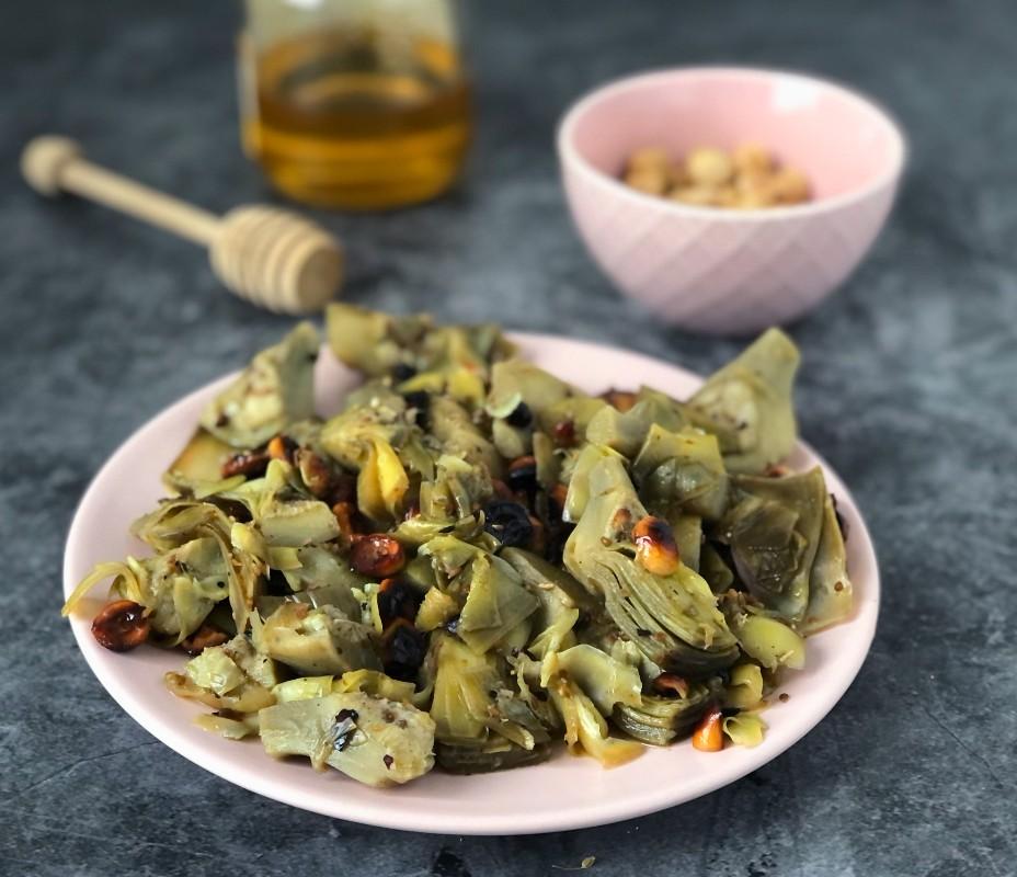 The Bretell Kitchen - Carciofi carmellati con nocciole