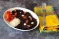 Riso venere con pomodori e yogurt di soia
