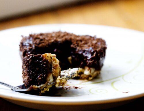 Mini Pie con Budino al Cioccolato e Banana