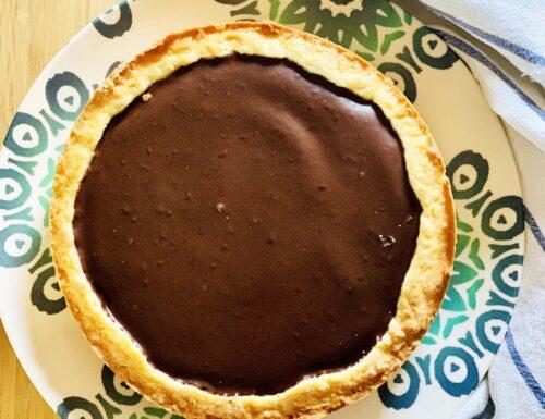 Crostata con Ripieno di Crema e Ganache al Cioccolato   Vegana & Senza Glutine