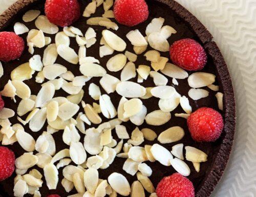 Crostata Lamponi e Cioccolato   Senza Glutine & Senza Lattosio