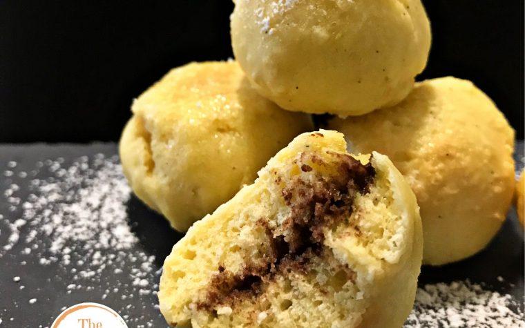 Castagnole al forno, senza burro