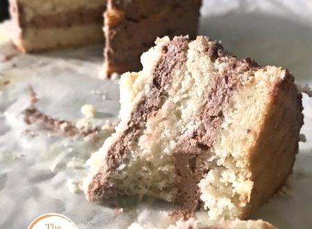 Torta vegana, con crema al cocco