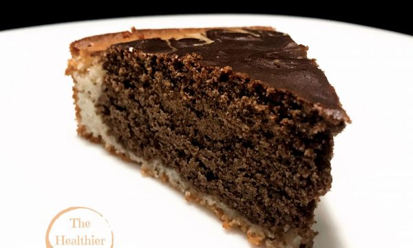 Torta bicolore, vegana e senza glutine