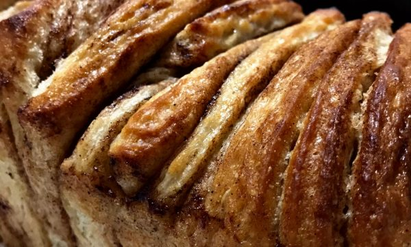 Pull-apart cinnamon bread vegano