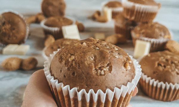 Muffin con burro di arachidi e cioccolato bianco