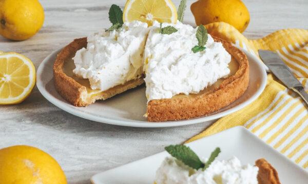 Crostata con curd al limone