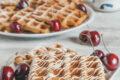 Waffle al cioccolato bianco con farina d'avena