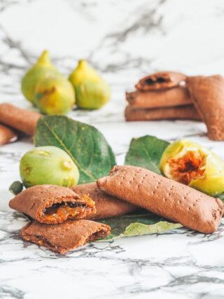 Fagottini al cacao con marmellata di fichi